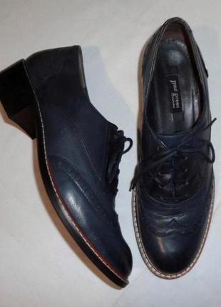 Туфли броги paul green австрия натуральная кожа р. 37 ст. 24-24,5 см