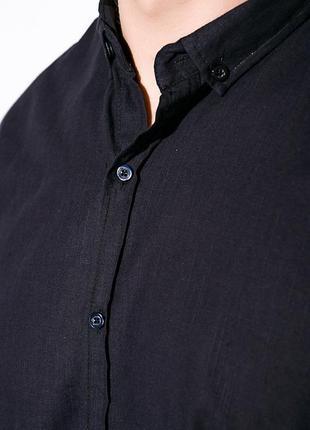 Темно синяя короткий рукав стильная рубашка хлопок s