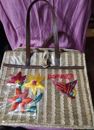 Dominica плетеная корзина из итальянской соломки