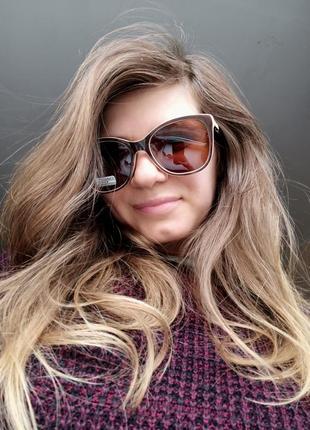 Новые стильные очки с блеском на дужках (линза с поляризацией)
