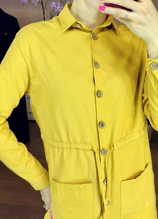 Платье рубашка хлопковое4 фото