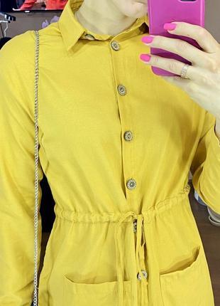 Платье рубашка хлопковое6 фото