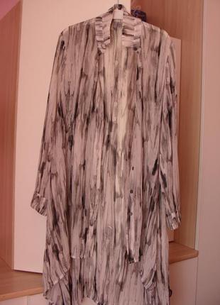 Довга шифонова блуза-рубашка