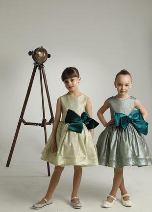 Роскошное детское платье на праздник с бантом  алисса