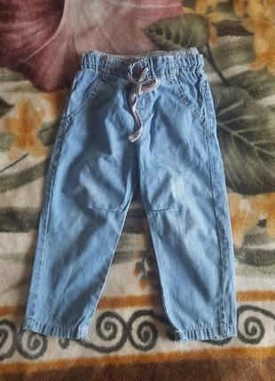 Летние  штаны джинсы zara р.98