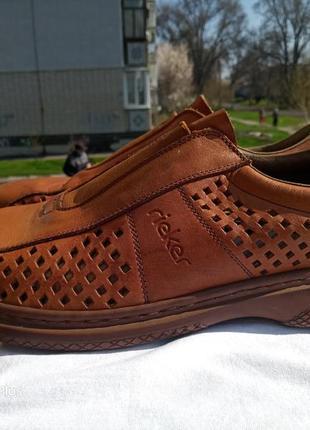 Легкие, комфортные кожаные туфли rieker antistress