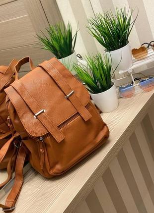 Модный рюкзак, 28х23, эко-кожа, беж