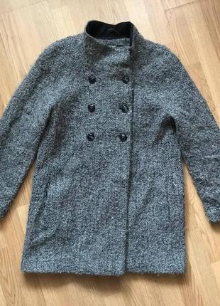 Пушистое шерстяное пальто тедди dona karan