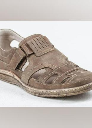 Мужские кожаные летние туфли comfort
