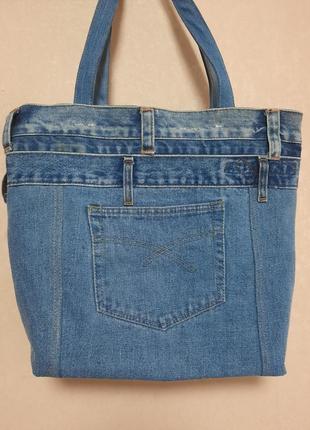 Джинсовая сумка2 фото