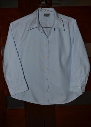 Офисная хлопковая рубашка montego. размер 38.