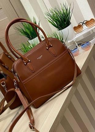 Стильная сумка, 29х24, эко кожа, ириска