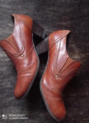 Кожаные туфли roberto santi.
