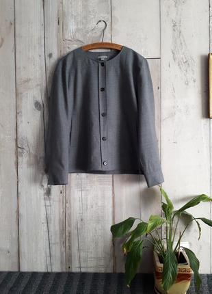 Пиджак серый шерстяной свободный оверсайз cos р 40
