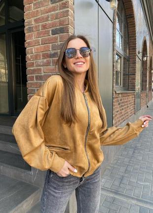 Замшевые ветровки 2 цвета (с, м, л), женская ветровка, замшевая куртка (арт 100301)