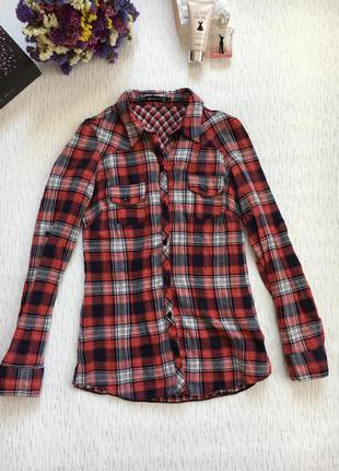 Снизила цену рубашка в красную клетку 8- размера