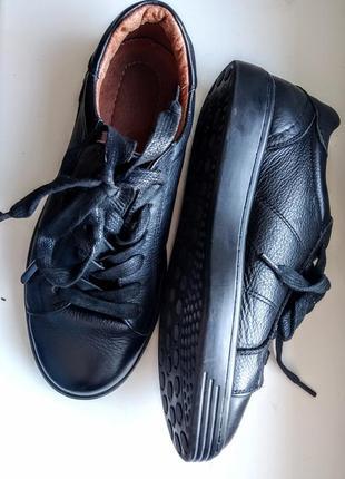 Кроссовки туфли слипоны кеды кожа натуральная zara