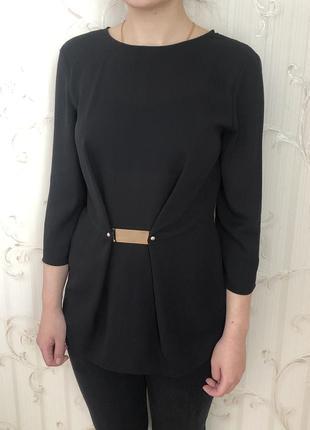 Стильна чорна блуза zara basic