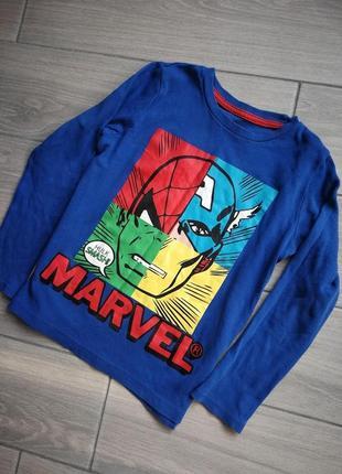 Реглан marvel з супергероями кофточка лонгслив на хлопчика george
