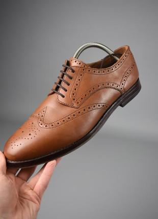 Мужские туфли броги англия оригинал hudson london
