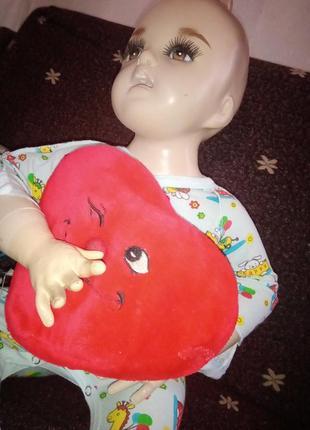 Сердечко декоративная подушка игрушка сердце