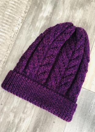Вязанная шапочка 5-7 лет1 фото