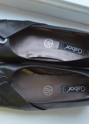 Классические кожаные туфли gabor стелька 27см