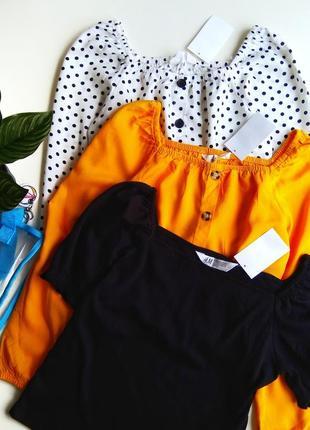 Набор стильных блузочек фирмы h&m.