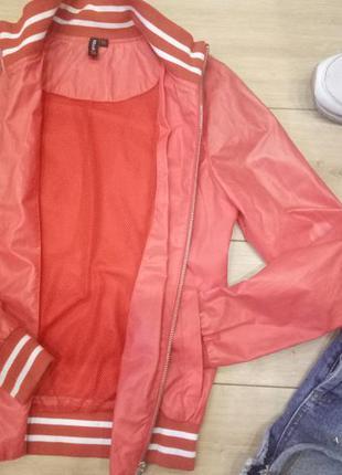 Новый ветровка-бомбер,куртка!водонепроницаемая!