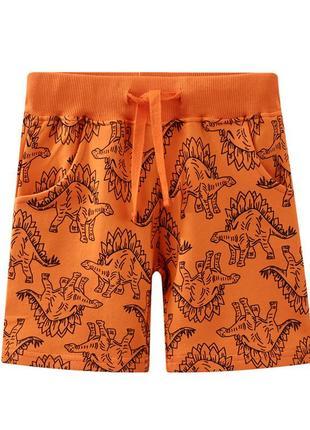 Шорты для мальчика orange dinosaurs