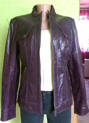 Куртка tom tailor. натуральная кожа.