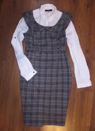 Сарафан платье в офис р. 46-48