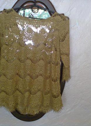 Кружевная блуза zara