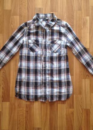 Рубашка в клеточку marks&spencer