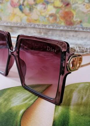 Модные квадратные брендовые очки винный оттенок окуляри жіночі