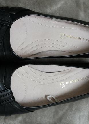 Туфли,мокасины,балетки кожаные  жен. 39-39.5-40 р.next ,бангладеш2 фото
