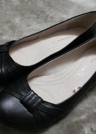 Туфли,мокасины,балетки кожаные  жен. 39-39.5-40 р.next ,бангладеш3 фото