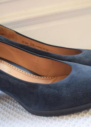Замшевые туфли балетки лодочки габор р.44 29 см