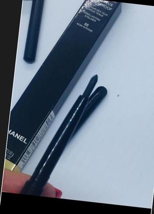 Chanel оригинал новая сухая подводка в коробке ,карандаш с точилкой чёрный