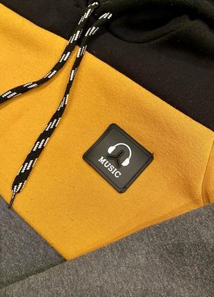 Кофта толстовка худи с капюшоном свитшот бобка с креплением для наушников4 фото