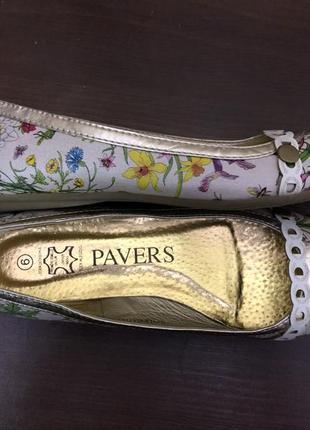 Новые яркие оригинальные летние туфли лодочки британского бренда pavers