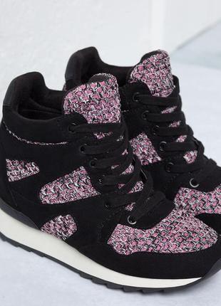 Сникерсы кроссовки на платформе от бершка