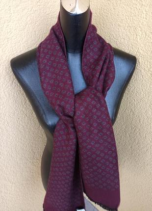 Мужской итальянский бордовый шарф michaelis вискоза