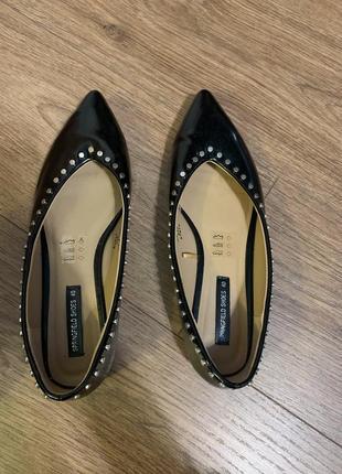 Лодочки туфли кожаные