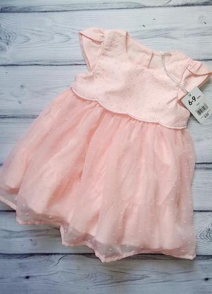 Нарядное платье mothercare для малышки 6-9 мес.