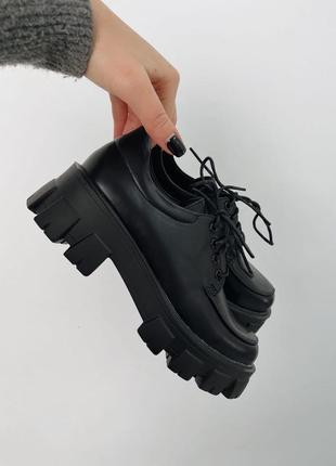Туфли брогги в чёрном цвете