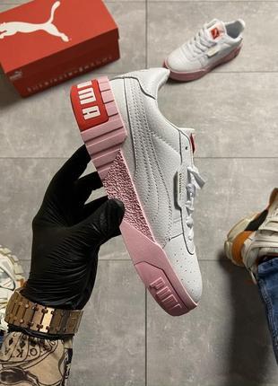 Кеды puma cali white and pink sole