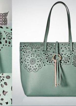 Стильная сумка мятного цвета