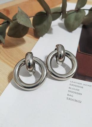 Шикарные серьги минимализм пусеты сережки узелки кольца под серебро новые кульчики
