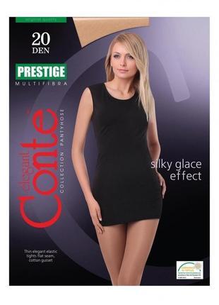Колготки 3-м 20 den conte prestige с эффектом нежного шелка без шортиков shade